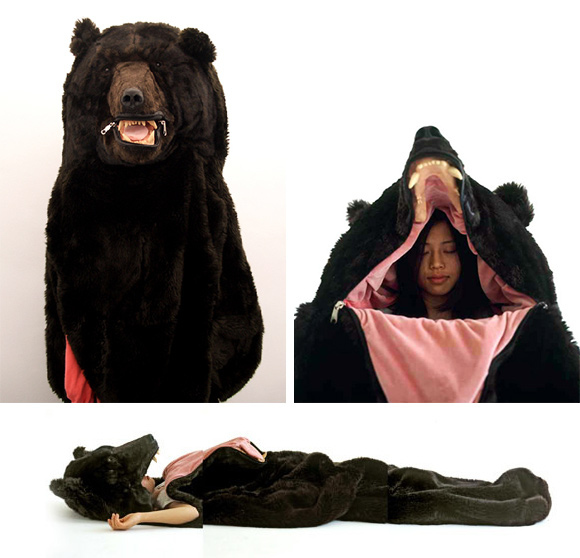 bear suit pajamas sleeping bag awesome halloween costume. Black Bedroom Furniture Sets. Home Design Ideas