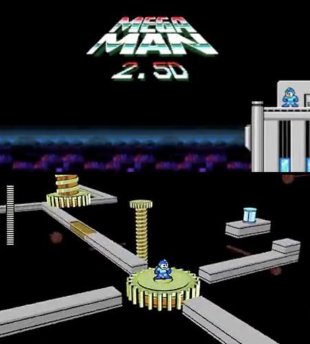 Megaman 8 Bit. 8-bit Mega Man 2.5D Almost 3D.