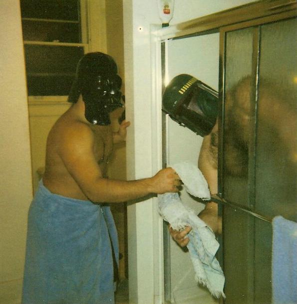 Star Wars Themed Bathroom Like To Take Showers W Darth