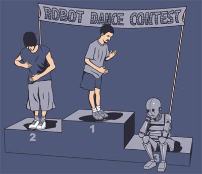 Хүн Сайн бүжиглэх үү Робот сайн бүжиглэх үү? Robot_shirt