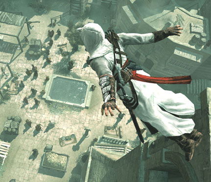 Как сделать прыжок от стены в assassins creed 2