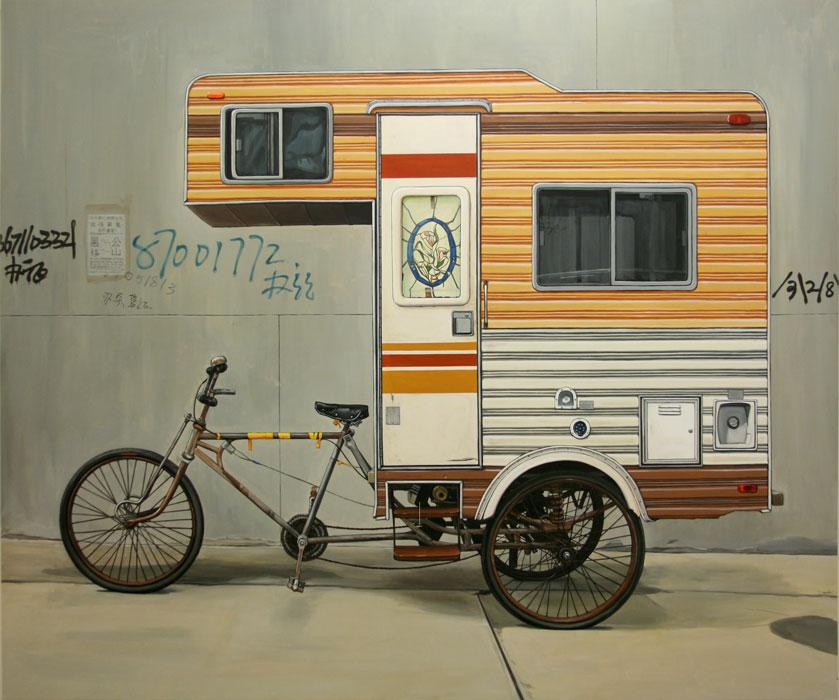 Artist Kevin Cyr Creates The Camper Bike A Functional Rv