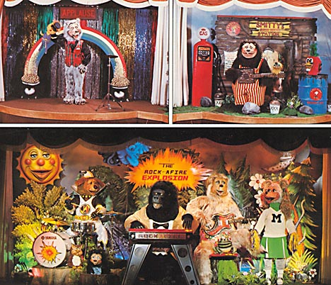 Chuck E Cheeses The Rock Afire Explosion Bear Band Covers
