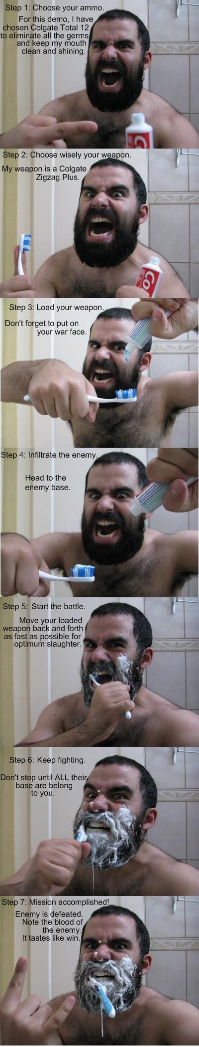 Хэрхэн Спартанчууд шиг шүдээ угаах вэ? Brush-your-teeth-like-a-spartan-sparta-toothpaste-300