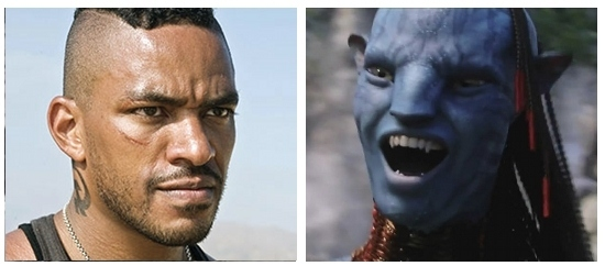 James Cameron   s Avatar Real-Life Actors Compared to Movie Characters    Laz Alonso Avatar