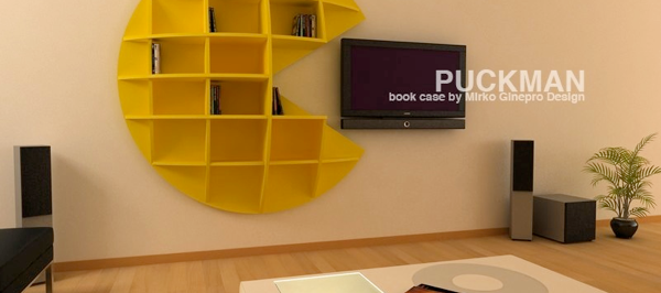 Pac Man Puck Man Videogame Bookcase From Gineprodesign