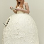 wedding dress cake Lukka Sigurdardottir checkered gatherandnest clothing