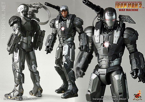 Marvel Real Action Heroes, scale 1/6 Action Figures & Statue Iron-man-2-War-Machine-in-1-6th-by-Hot-Toys