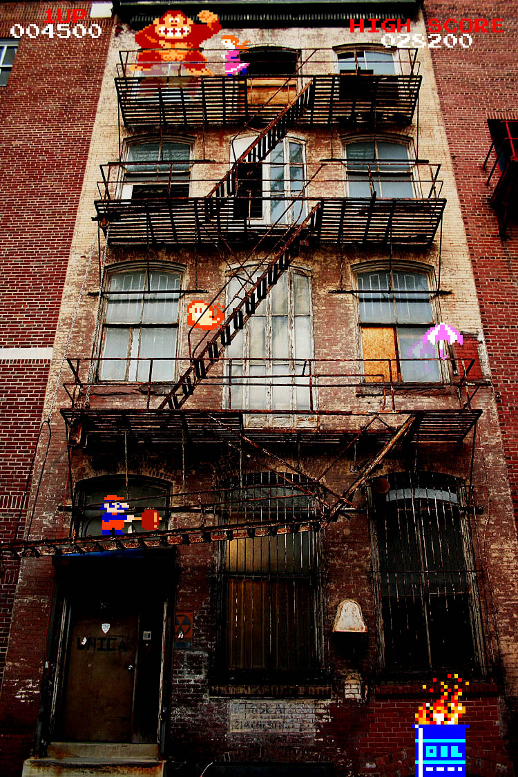 Real life donkey kong mario princess peach arcade game Real life friends apartment