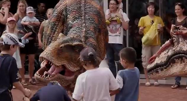 realistic dinosaurs attack little australian kids
