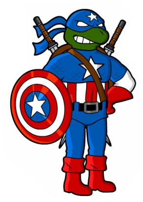 super hero ninja turtles