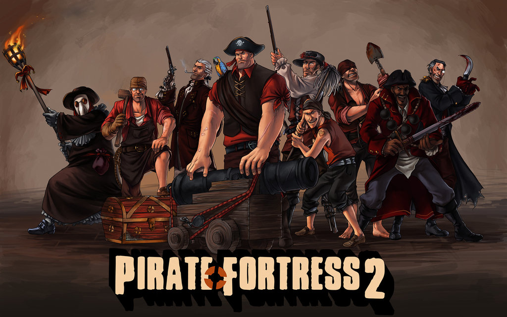 Pirate Fortress 2 By Fenomena Team Fortress S Heavy Soldier