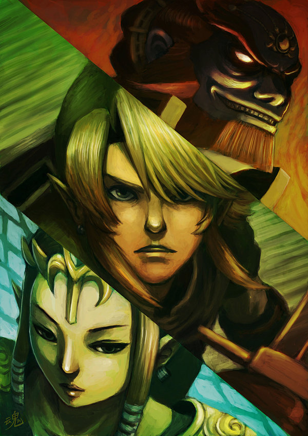 """Legend of Zelda Fanart by Ry-Spirit! Featuring: Wisdom Courage & Power, I Now Call You """"Brother"""", & WAKE UP LINK!"""