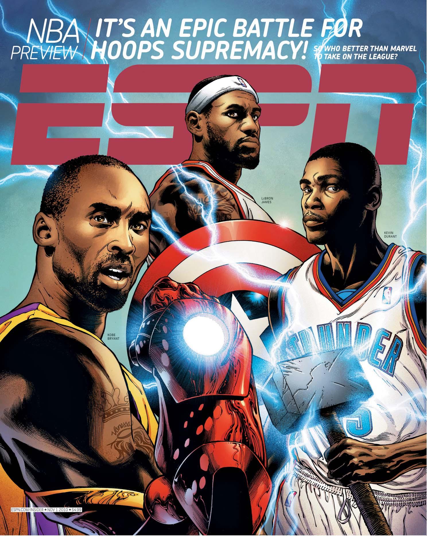 Kobe bryant lebron james kevin durant become marvel superheroes