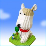lets-brick lego scultpures sachiko a big puppy