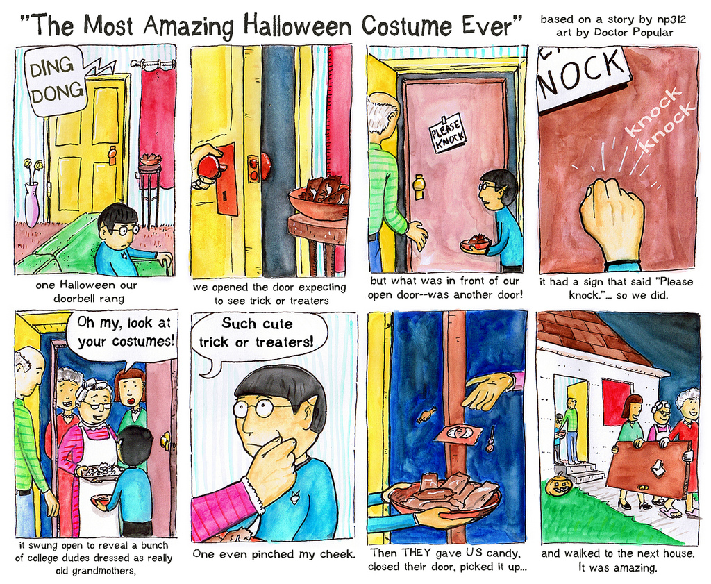The Most Amazing Halloween Costume Ever, Comic Strip Story by ...