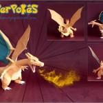 Pokemon Papercrafts by PapaerPokes! charizard charmander fire evelve