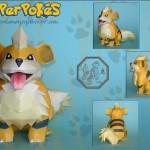Pokemon Papercrafts by PapaerPokes! growlithe