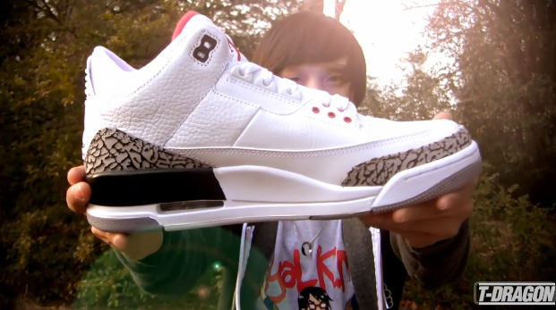 ea85ce3dafebb0 Loyal K.N.G. s T-Dragon Aka Thien Reviews the Nike Air Jordan III (3) White  Cement Retro Release!