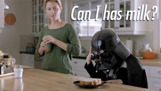 Star War's Darth Vader Sith-Force Volkswagen Commercial, Kids Join The Dark Side! Darth Vader ...