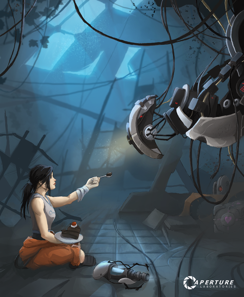 Portal 2 Live Wallpaper: Aperture Lab By Quintus Cassius! Portal Fan Art Of Chell