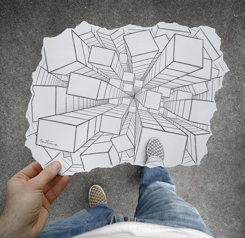Pencil Vs Camera Artwork By Ben Heine Merging Reality The Nd Dimension