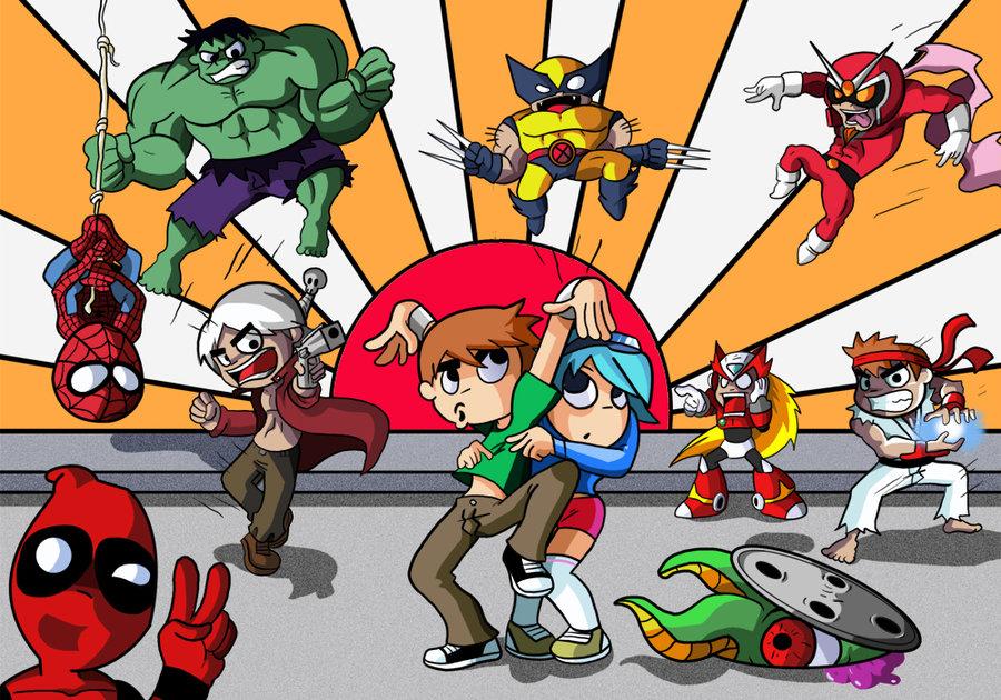 Spider Man Hulk Wolverine Ryu Joe Deadpool Vs Scott