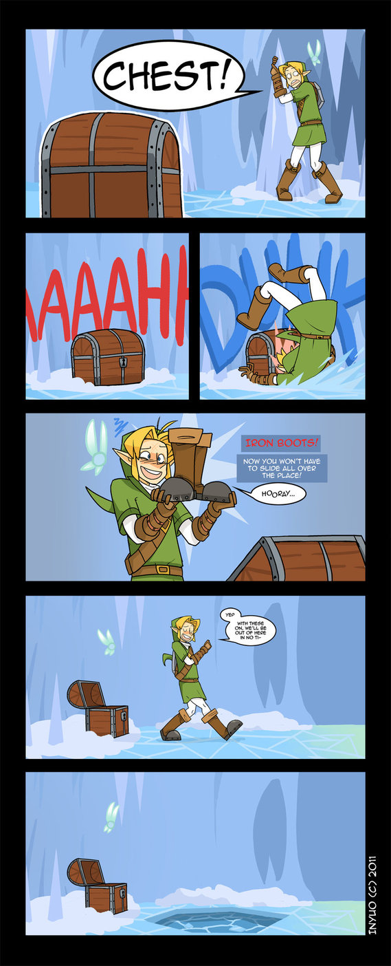 Breath Of The Wild Dark Link >> Skate Weight, Legend of Zelda Ocarina of Time Webcomic by Inyuo!