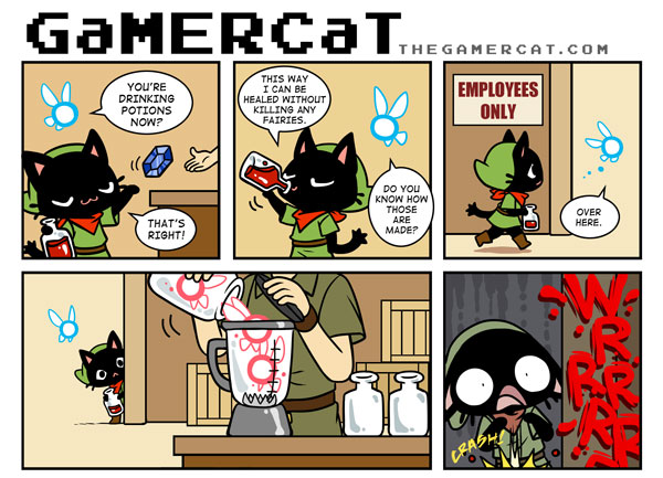 game cats comic
