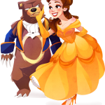 Disney Princess Illustrations by Kuitsuku, Featuring Brave's Merida, Tiana, Belle, Jasmine, Ariel, & Rapunzel3