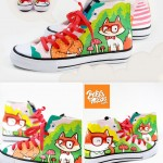 nerd fox shoes Bobsmade acrylic lucas paint faber castell shoes