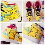pikachu sneaker Bobsmade pokemon thunder shock custom acrylic