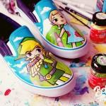 windwaker Bobsmade zelda link shoes paint nintendo acrylic gamecube wii