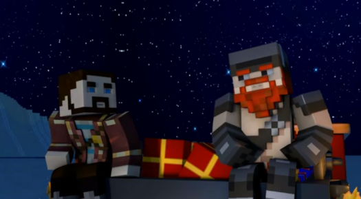 The Christmas Train – Minecraft Short film by Yogscast Starring ...